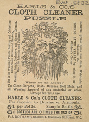 Advert for Harle & Co's cloth cleaner